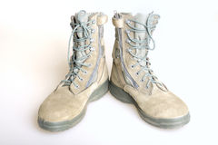 US Army boots. Over white background Stock Images