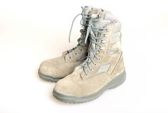 US Army boots. Over white background Stock Photo