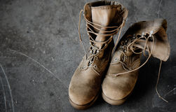 US Army boots Royalty Free Stock Photo