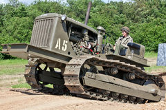 US Army bulldozer Stock Image