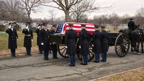 US Army caisson with casket Stock Photos