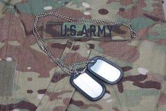 Us army camouflaged uniform Stock Image