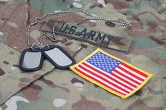Us army camouflaged uniform Stock Photo