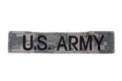 Us army uniform name badge Royalty Free Stock Photo