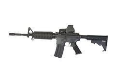US Army carbine with ACOG Gunsight isolated Royalty Free Stock Photography