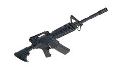 US Army M4A1 carbine isolated on a white backgroun Royalty Free Stock Photos