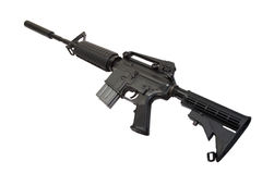US Army carbine with silencer Stock Photo