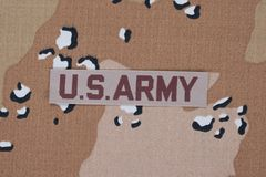 US ARMY concept on camouflage uniform Stock Photo