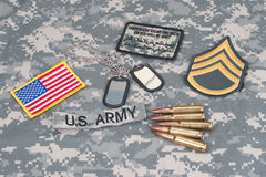 US ARMY concept with uniform Stock Photo