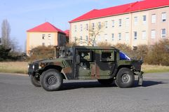 Us army convoy, 27.3.2016, Czech Republic, crossing to Poland from Old Boleslav, Royalty Free Stock Photography