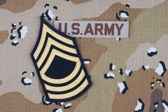 US ARMY uniform with rank patch. US ARMY desert uniform with rank patch royalty free stock photo