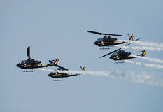 US Army helicopter demo team Stock Photo