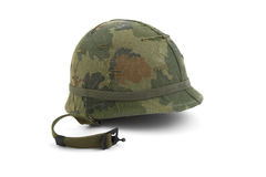 US Army helmet - Vietnam era royalty free stock photo