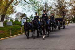 US Army and Horses at Arlington Cemetery Royalty Free Stock Photography