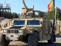 US Army Humvee. Patrolled by Romanian troop in a training mission royalty free stock photos