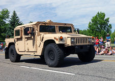 US Army Humvee. On Memorial Day Parade in Livingston,NJ stock image