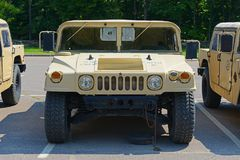 US Army Humvee in Potsdam, New York, USA. US Army Humvee in Potsdam, New York State, USA stock photo