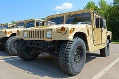 US Army Humvee in Potsdam, New York, USA. US Army Humvee in Potsdam, New York State, USA royalty free stock photography