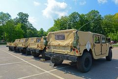 US Army Humvee in Potsdam, New York, USA. US Army Humvee in Potsdam, New York State, USA royalty free stock image