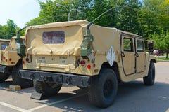 US Army Humvee in Potsdam, New York, USA. US Army Humvee in Potsdam, New York State, USA stock photography