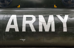 US Army insignia on the side of a Vietnam war helicopter. US Army insignia on the side of a vintage Vietnam war helicopter Royalty Free Stock Photography