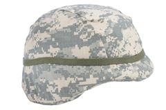 Us army kevlar helmet. Isolated on white Stock Photography