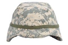 Us army kevlar helmet. Isolated on white Stock Photo