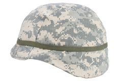 Us army kevlar helmet. Isolated on white Stock Image