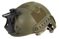 Us army kevlar helmet with night vision mount. Isolated on white Royalty Free Stock Photo