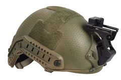Us army kevlar helmet with night vision mount. Isolated on white Stock Images
