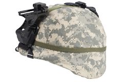 Us army kevlar helmet with night vision mount. Isolated on white Stock Image