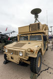 US Army M1113 Humvee. PARIS - LE BOURGET - JUN 18, 2015: US Army M1113 Humvee Air Vehicle Transporter AVT of the 2nd Cavalry Regiment at the 51st International stock photo