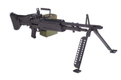 US ARMY M60 machine gun Stock Photo