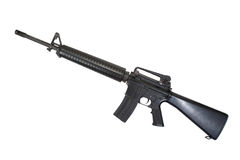 US Army M16 rifle. Isolated on a white background Royalty Free Stock Images