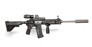 US Army M4 rifle Royalty Free Stock Images