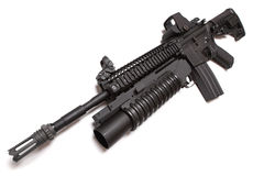 US Army M4A1 tactical carbine with M203 louncher. Royalty Free Stock Photos