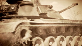 US Army military tanks on maneuvers stock footage