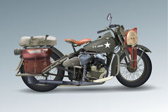 US army motorcycle, vector eps10 Royalty Free Stock Photography