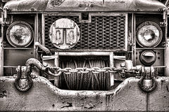 US Army Old Deuce and a Half Truck Front Grille stock images