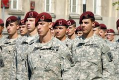 US Army in Polish Armed Forces Day Stock Image