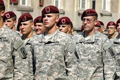 US Army in Polish Armed Forces Day Royalty Free Stock Images