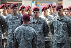 US Army in Polish Armed Forces Day Royalty Free Stock Image