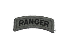 US ARMY ranger badge isolated. On white Royalty Free Stock Image