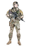 US army ranger. United States Army ranger with assault rifle Stock Photography
