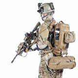 US army ranger. United States Army ranger with assault rifle Stock Images