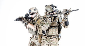US army rangers. United States Army rangers with assault rifles stock photos