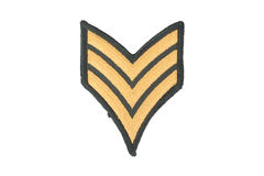 Us army sergeant rank Stock Image