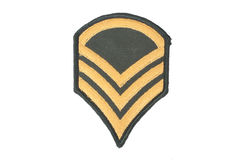 Us army sergeant rank patch Stock Photos