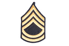 Us army sergeant rank patch Stock Images