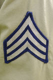 US Army Sergeant Stripes Stock Photography